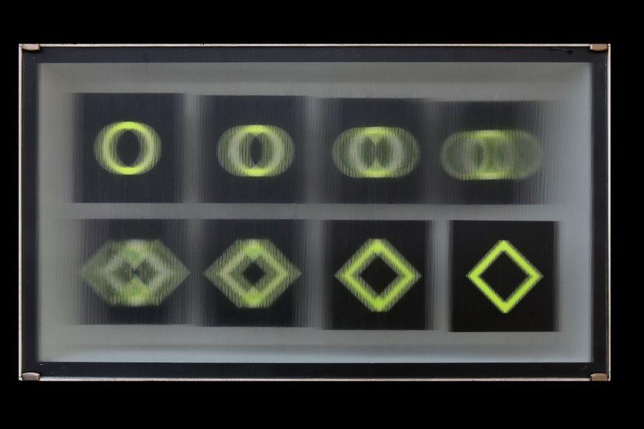 elaborato binario con vetro rigato, 1966