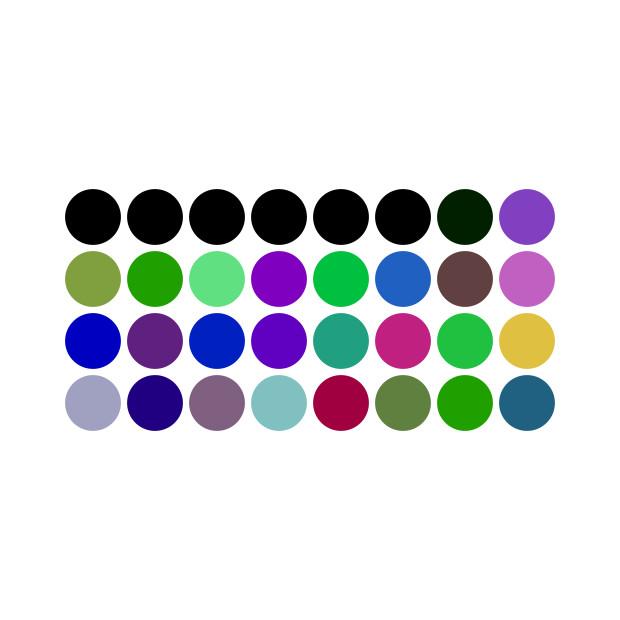 First Halvening (Bitcoin Block Hash, 8 Bit Palette, Spots), 2018
