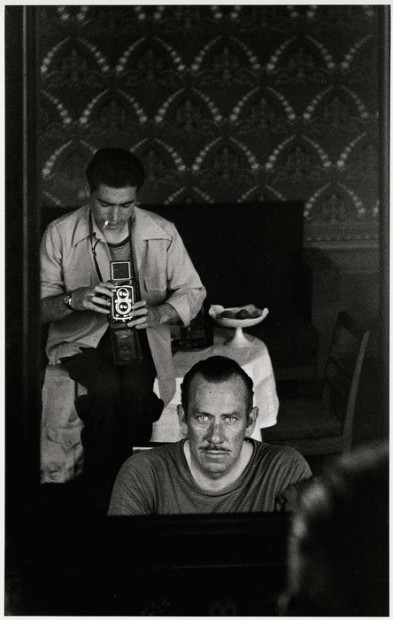 <span class=&#34;title&#34;>Robert Capa photographing John Steinbeck through a mirror, Moscow<span class=&#34;title_comma&#34;>, </span></span><span class=&#34;year&#34;>1947</span>