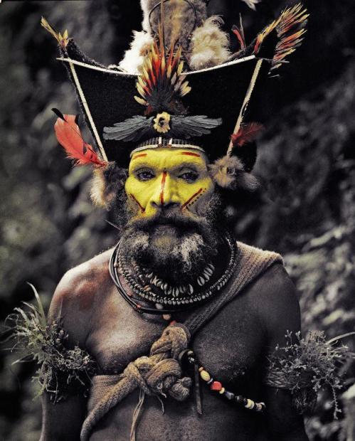 XV 65 - Kati Hirawako - Huli Wig men - Ambua Falls, Tari Valley - Papua New Guinea, 2010