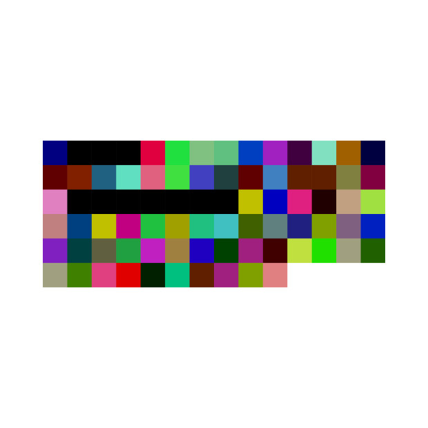First Transaction (Bitcoin Raw Transaction, 8 Bit Palette, Squares), 2018