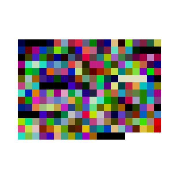 First Halvening (Bitcoin Block Header, 8 Bit Palette, Squares), 2018