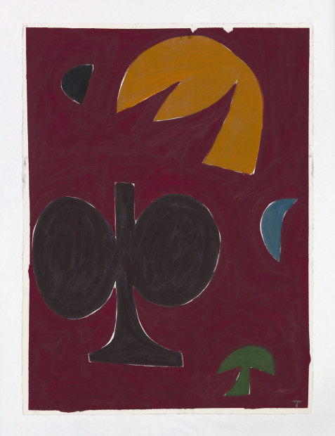 Tuukka Tammisaari, Plant motif on red, 2018
