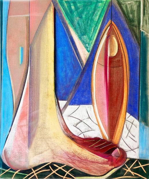 Aurélie Gravas, Big Composition 4 (Big Foot), 2021