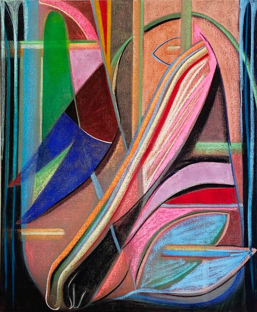 Aurélie Gravas, Big Composition 2 (Black Foot), 2021