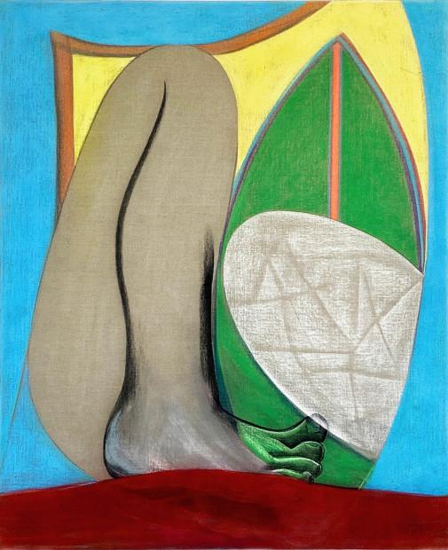 Aurélie Gravas, Big Composition 1 (Yellow Foot), 2021