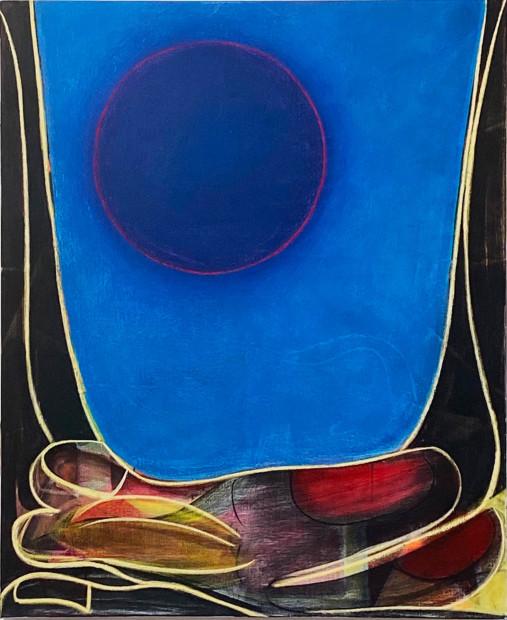 Aurélie Gravas, Big Composition 5 (Blue Moon), 2021