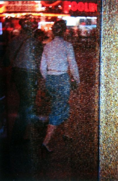 Saul Leiter Times Square Mosaic, New York chromogenic print 14 x 11 inches35.6 x 27.9 cms