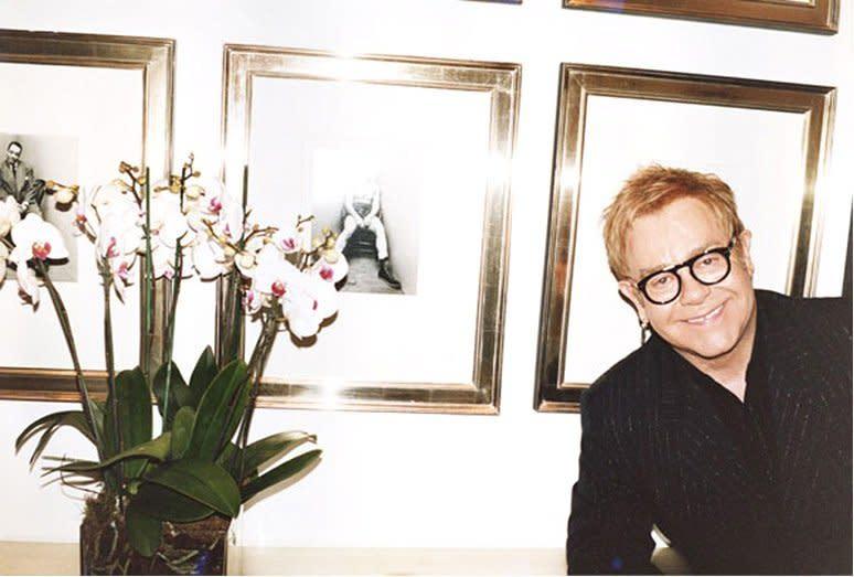 Juergen Teller Elton John, The Boxer, London c-print 20 x 24 inches