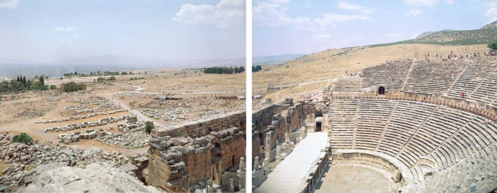 Massimo Vitali Hierapolis Diptych, Turkey (#3122-3123) chromogenic print on Diasec 2 panels at 72 x 86 inches each