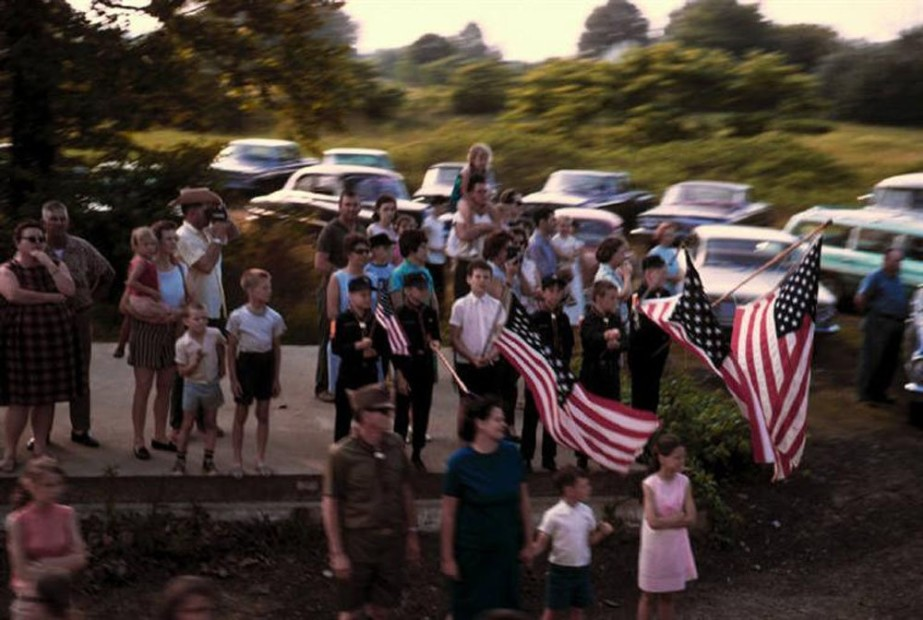 Paul Fusco RFK Funeral Train #2389 chromogenic print paper size: 20 x 24 inchesimage size: 15 x 22 inches