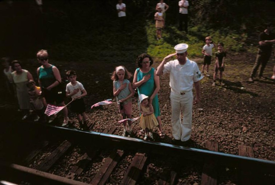 Paul Fusco RFK Funeral Train #2379 chromogenic print paper size: 20 x 24 inchesimage size: 15 x 22 inches