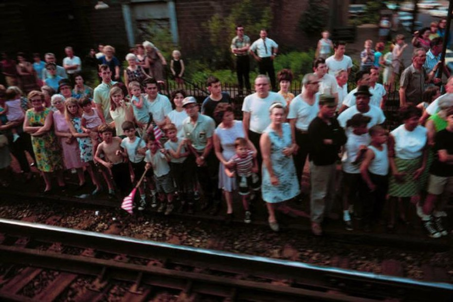 Paul Fusco RFK Funeral Train #2459 chromogenic print paper size: 20 x 24 inchesimage size: 15 x 22 inches