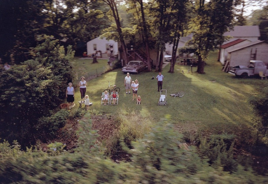 Paul Fusco RFK Funeral Train #2625 chromogenic print paper size: 20 x 24 inchesimage size: 15 x 22 inches