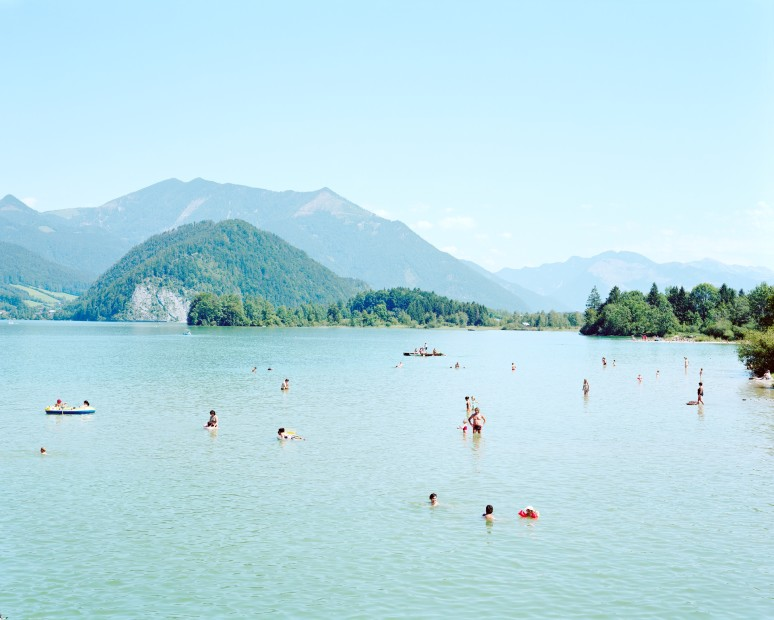 Massimo Vitali Wolfgangsee South East (#3313) chromogenic print on Diasec 72 x 86 inches