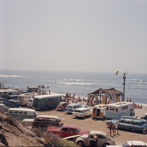LeRoy Grannis Club Surfing Contest, San Onofre chromogenic print paper size: 36 x 36 inchesimage size: 30 x 30 inches