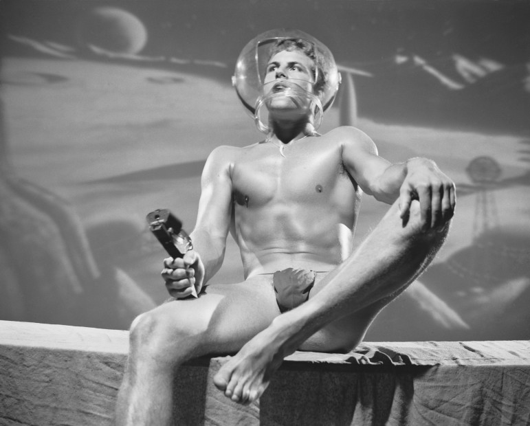 Bob Mizer, Shan Daymor (in space), Los Angeles, 1963