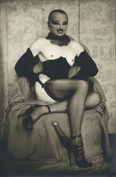 Pierre Molinier Autoportrait à léperon d'amour vintage gelatin silver 7 x 4-1/2 inches