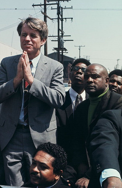 Howard L. Bingham Bobby Kennedy on the Presidential Campaign, Watts, California chromogenic print 26 x 36 inches