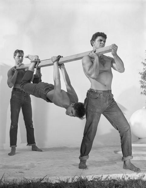 Bob Mizer, Cliff Bankes, Steve Epplett and Bob Dupre (hogtied), Los Angeles, 1951