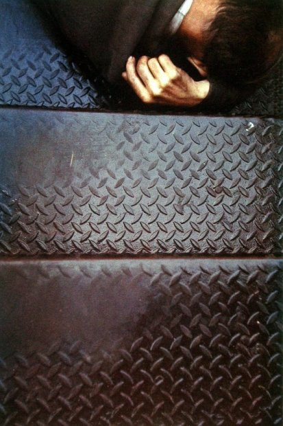 Saul Leiter Tanager Stairs chromogenic print 14 x 11 inches35.6 x 27.9 cms