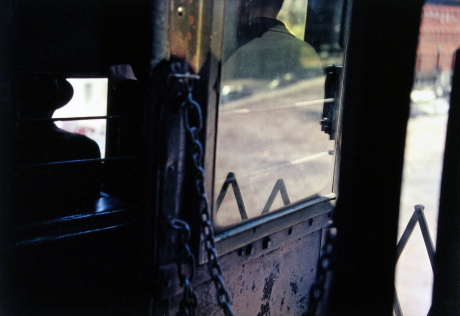 Saul Leiter On the El chromogenic print 11 x 14 inches27.9 x 35.6 cms