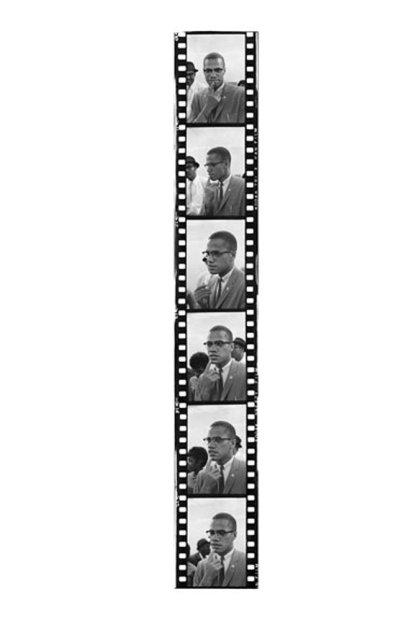 Howard L. Bingham Malcolm X gelatin silver print 60 x 15 inches