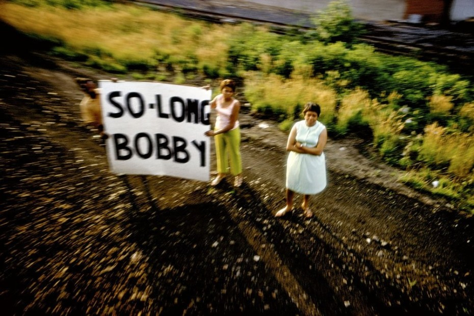 Paul Fusco RFK Funeral Train #2439 chromogenic print paper size: 20 x 24 inchesimage size: 15 x 22 inches