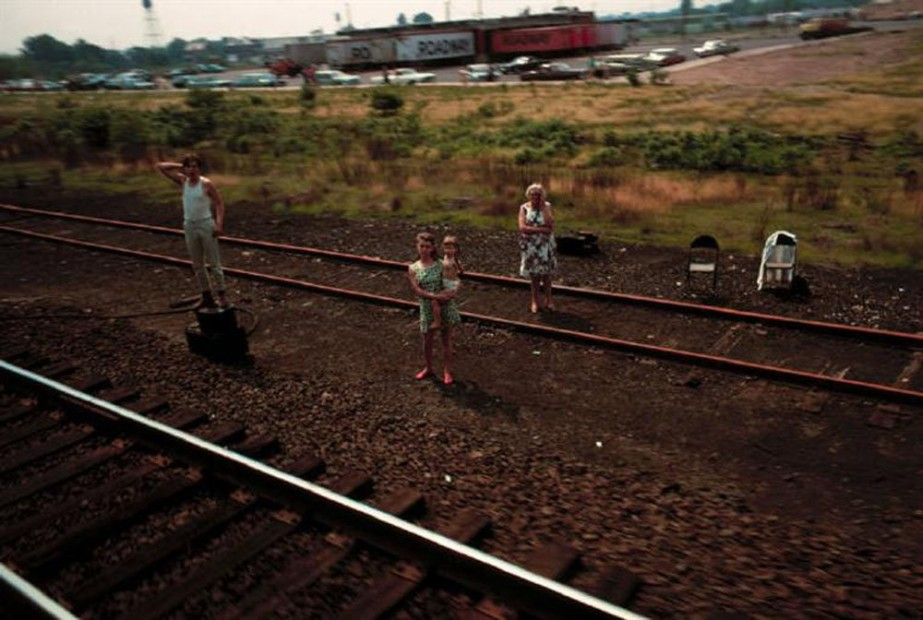 Paul Fusco RFK Funeral Train #2637 chromogenic print paper size: 20 x 24 inchesimage size: 15 x 22 inches