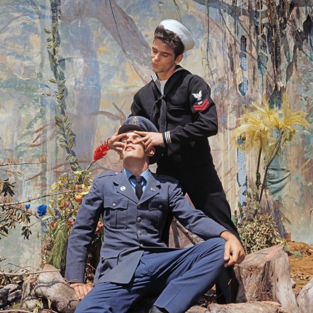 Bob Mizer, Tony Rome and Ron Nichols (Airman and The Sailor), Los Angeles, c. 1971