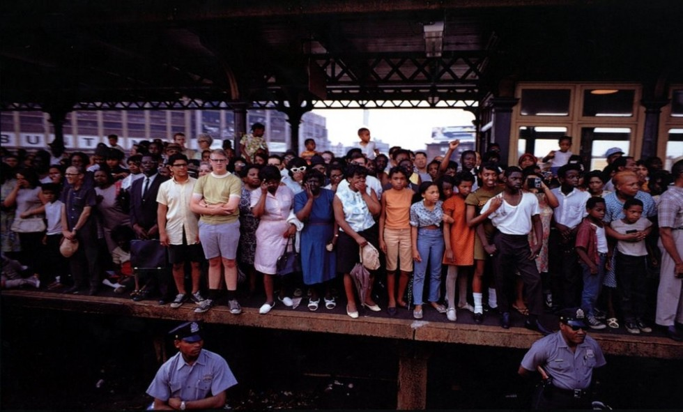 Paul Fusco RFK Funeral Train #2435 chromogenic print paper size: 20 x 24 inchesimage size: 15 x 22 inches