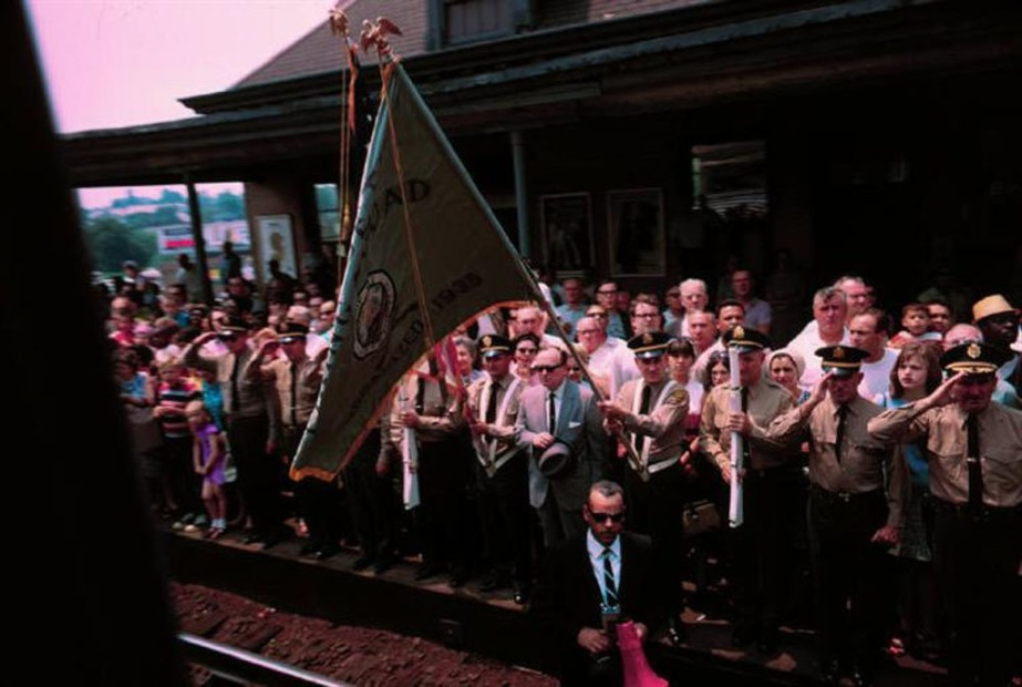 Paul Fusco RFK Funeral Train #2455 chromogenic print paper size: 20 x 24 inchesimage size: 15 x 22 inches