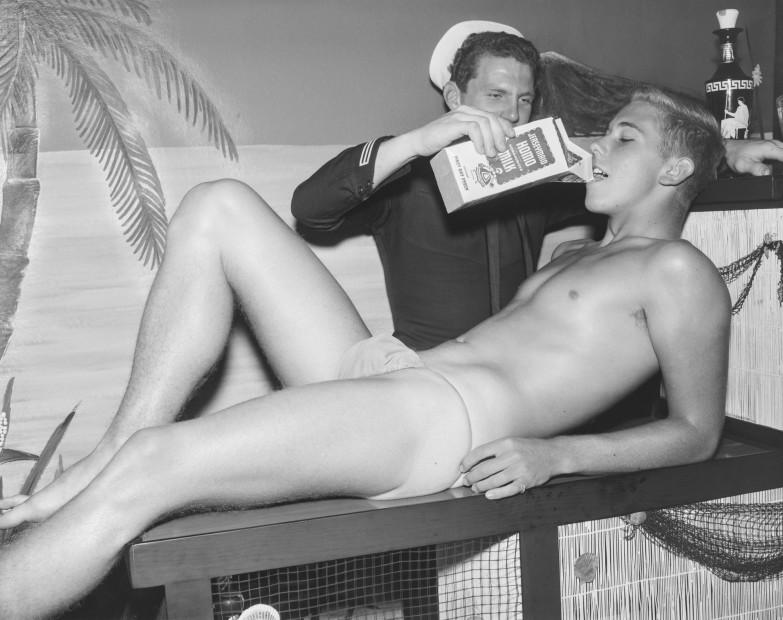Bob Mizer, Rand Simmons and Dick Kern (Jerseymaid), Los Angeles, 1961