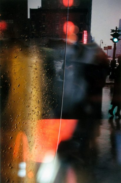 Saul Leiter Walk with Soames chromogenic print 20 x 16 inches50.8 x 40.6 cms