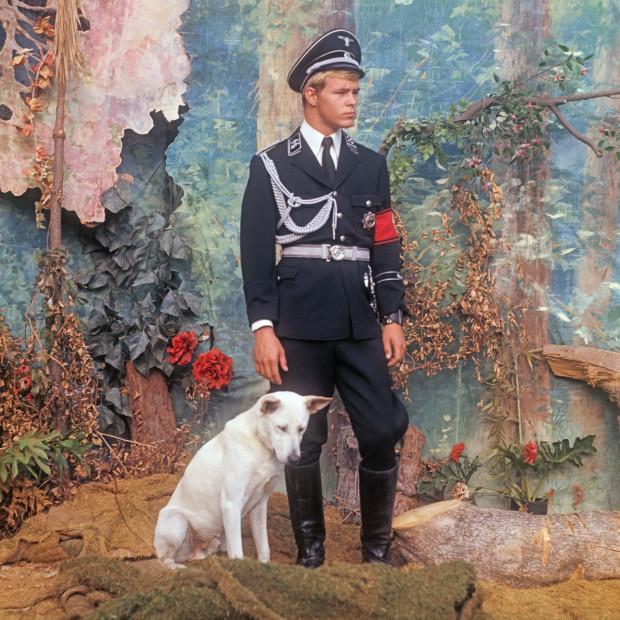 Bob Mizer, Kurt Koenig With Dog, Los Angeles, c. 1973