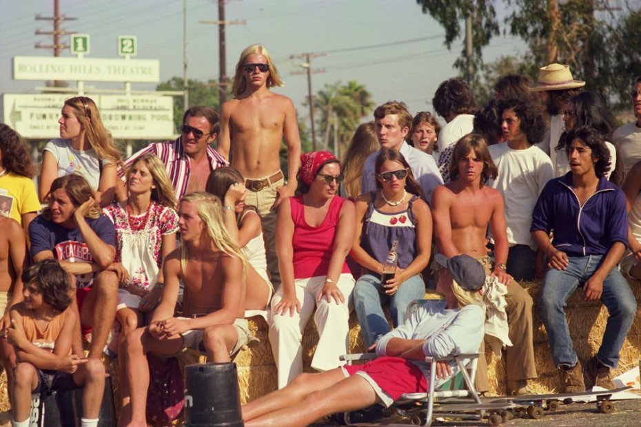 Hugh Holland Skate Contest Spectators, Torrance (No. 62) chromogenic print 20 x 30 inches