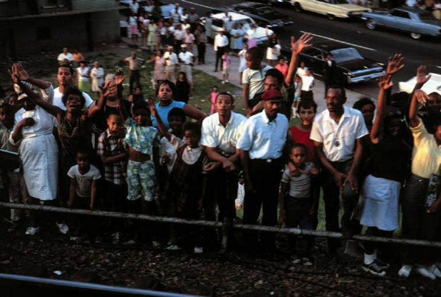 Paul Fusco RFK Funeral Train #2598 chromogenic print 20 x 24 inches