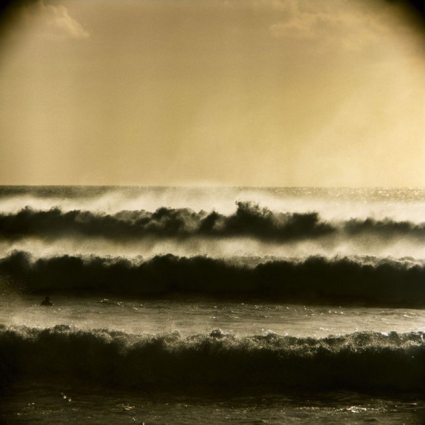 LeRoy Grannis Big Storm Surf at Ehukai Beach (near Pipeline) chromogenic print paper size: 36 x 36 inchesimage size: 30...
