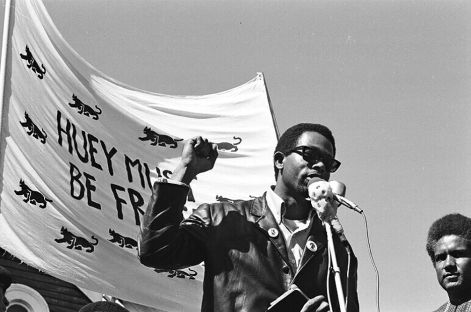 Howard L. Bingham Black Panther Rally #2, Oakland gelatin silver print 20 x 24 inches