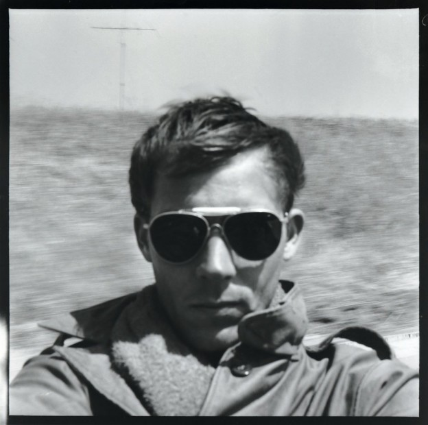 Hunter S. Thompson Self Portrait, On the Road to Tijuana gelatin silver print paper size: 30 x 30 inchesimage size:...