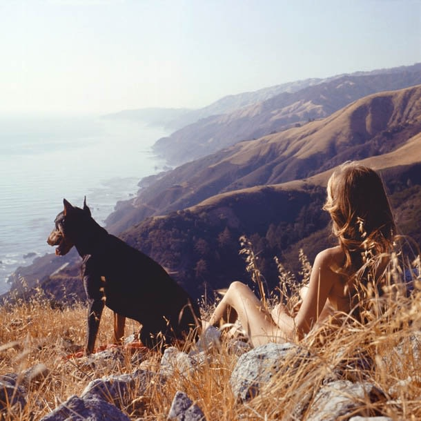 Hunter S. Thompson Sandy & Agar, Big Sur chromogenic print paper size: 36 x 36 inchesimage size: 30 x 30...