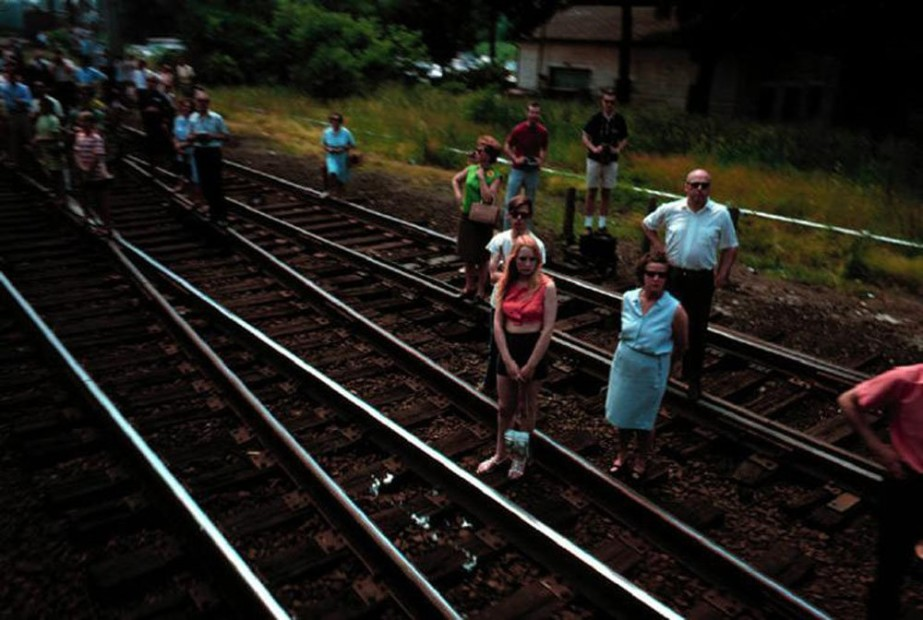 Paul Fusco RFK Funeral Train #2374 chromogenic print paper size: 20 x 24 inchesimage size: 15 x 22 inches