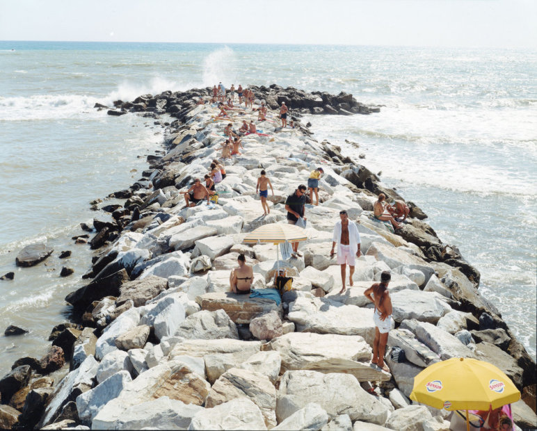 Massimo Vitali Madima Wave Horizontal (#2231) chromogenic print on Diasec 72 x 86 inches