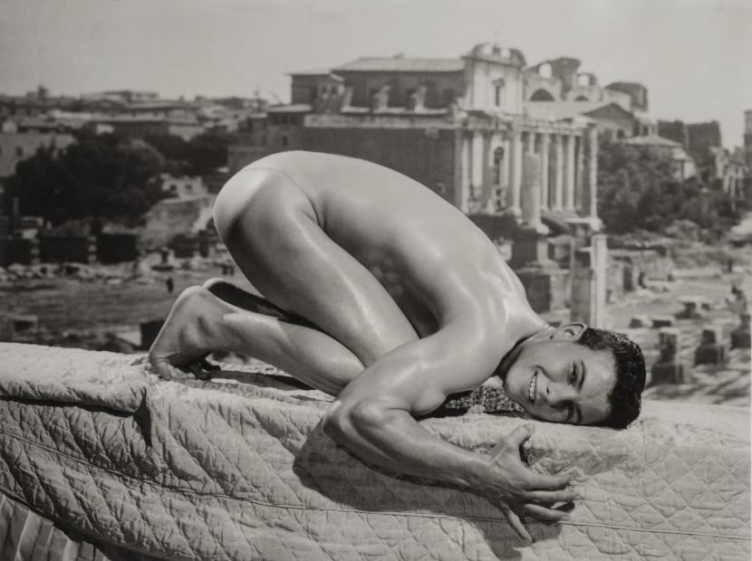 Bob Mizer, Jim Paris (on knees), Los Angeles, 1964