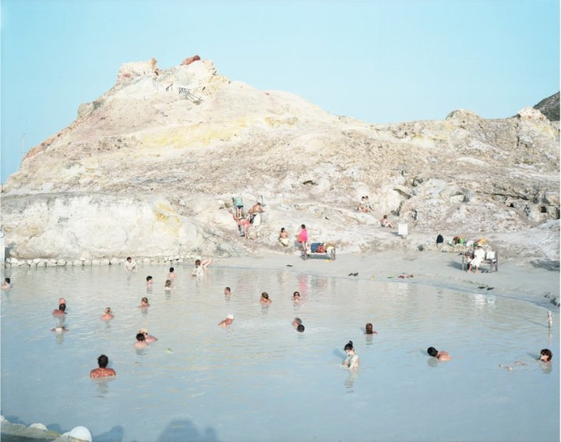 Massimo Vitali Vulcano Mud Cettina, Vulcano, Italy (#3245) chromogenic print on Diasec 72 x 86 inches
