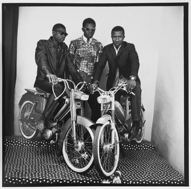 Malick Sidibé Trois Amis en Motos gelatin silver print 20 x 24 inches
