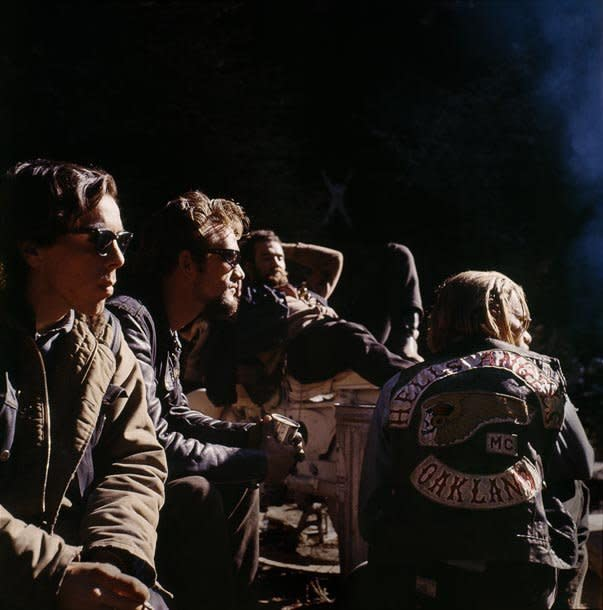 Hunter S. Thompson Hell's Angels, Group chromogenic print paper size: 36 x 36 inchesimage size: 30 x 30 inches