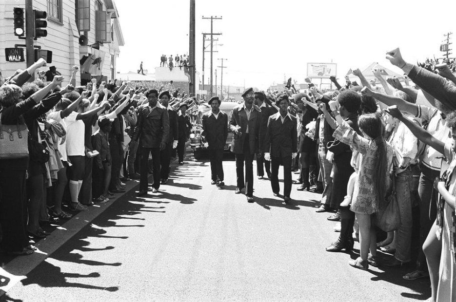Howard L. Bingham Black Panther Funeral March, Los Angeles gelatin silver print 20 x 24 inches