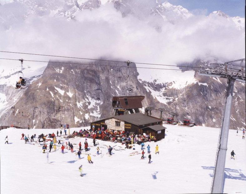 Massimo Vitali Courmayeur, Mt Blanc (#0651) chromogenic print on Diasec 72 x 86 inches