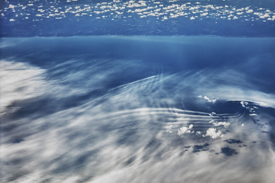 Scott Mead  LHR-JFK 08/20/2015 19:15:25  Clouds and sea over Sandy Hook, New Jersey